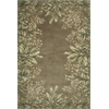 "Emerald 9000 Taupe Tropical Border 5'6"" Round Size Area Rug"