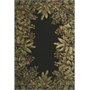 "KAS Rugs Emerald 9001 Black Tropical Border 3'6"" x 5'6"" Size Area Rug"
