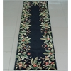 "Emerald 9001 Black Tropical Border 2'6"" x 8' Runner Size Area Rug"