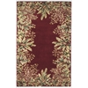 "Emerald 9017 Ruby Tropical Border 2'6"" x 4'6"" Size Area Rug"