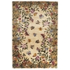 "KAS Rugs Emerald 9019 Antique Beige Butterfly Garden 2'6"" x 4'6"" Size Area Rug"