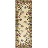 "KAS Rugs Emerald 9019 Antique Beige Butterfly Garden 2'6"" x 8' Runner Size Area Rug"