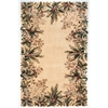 "Emerald 9022 Ivory Tropical Border 5'3"" x 8'3"" Size Area Rug"
