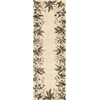 "Emerald 9022 Ivory Tropical Border 2'6"" x 8' Runner Size Area Rug"