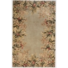 "Emerald 9026 Sage Tropical Border 5'3"" x 8'3"" Size Area Rug"