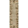 "Emerald 9026 Sage Tropical Border 2'6"" x 8' Runner Size Area Rug"