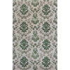 "Emerald 9038 Ivory/Green Damask 5'3"" x 8'3"" Size Area Rug"