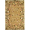 "KAS Rugs Emerald 9080 Gold Tulip Garden 5'3"" x 8'3"" Size Area Rug"
