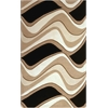 "Eternity 1071 Black/Beige Waves 2'3"" x 7'6"" Runner Size Area Rug"