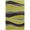 "Eternity 1084 Lime/Mocha Landscapes 3'3"" x 5'3"" Size Area Rug"