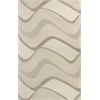 "KAS Rugs Eternity 1085 Ivory Waves 2'3"" x 7'6"" Runner Size Area Rug"