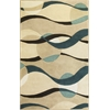 "Eternity 1093 Ivory/Blue Orbit 3'3"" x 5'3"" Size Area Rug"