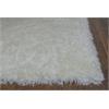 """KAS Rugs Fina 0550 Ivory Silky Shag 3'3"""" x 5'3"""" Size Area Rug"""
