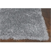 "Fina 0552 Silver Silky Shag 5'6"" Round Size Area Rug"