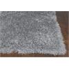 Fina 0552 Silver Silky Shag 5' x 7' Size Area Rug