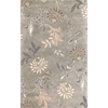 "Florence 4557 Silver Floral 3'6"" x 5'6"" Size Area Rug"
