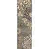 "Florence 4574 Sage Mums 2'3"" x 7'6"" Runner Size Area Rug"