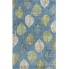 Florence 4584 Ocean Blue Leaves 8' X 10' Size Area Rug