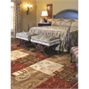 "Geneva 9420 Sienna Floral Panes 5'3"" x 7'8"" Size Area Rug"