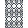 """Harbor 4210 Ivory/Blue Mosaic 5' x 7'6"""" Size Area Rug"""