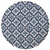 """Harbor 4210 Ivory/Blue Mosaic 7'6"""" Round Size Area Rug"""