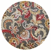 "Harbor 4213 Taupe Flora 7'6"" Round Size Area Rug"