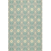 "Harbor 4215 Aqua Empire 3'3"" x 5'3"" Size Area Rug"