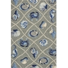 "Harbor 4219 Grey Seaside 3'3"" x 5'3"" Size Area Rug"