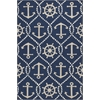 "Harbor 4220 Navy Marina 3'3"" x 5'3"" Size Area Rug"