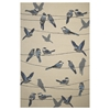 "Harbor 4221 Ivory Birds On A Wire 7'6"" x 9'6"" Size Area Rug"