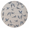 "Harbor 4221 Ivory Birds On A Wire 7'6"" Round Size Area Rug"