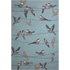 "Harbor 4222 Blue Birds On A Wire 3'3"" x 5'3"" Size Area Rug"