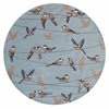 "Harbor 4222 Blue Birds On A Wire 7'6"" Round Size Area Rug"
