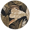 "Havana 2616 Midnight Rainforest 7'6"" Round Size Area Rug"