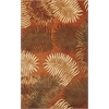 "Havana 2623 Rust Fern View 8' X 10'6"" Size Area Rug"