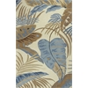 "KAS Rugs Havana 2624 Ivory/Blue Rainforest 3'3"" x 5'3"" Size Area Rug"