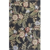 "Havana 2625 Black Wildflowers 3'3"" x 5'3"" Size Area Rug"
