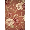 "Horizon 5708 Brick Red Flora 5'3"" x 7'7"" Size Area Rug"