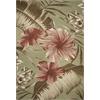 "Horizon 5714 Sage Green Hibiscus 8'1"" x 11'2"" Size Area Rug"