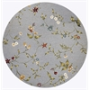 "Horizon 5716 Blue Floral 6'9"" Round Size Area Rug"
