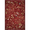 "Horizon 5717 Red Floral 6'9"" x 9'6"" Size Area Rug"