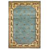 "Jewel 0305 Wedgewood Blue Fleu-De-Lis 3'6"" x 5'6"" Size Area Rug"