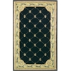 "Jewel 0307 Black Fleur-De-Lis 2'6"" x 10' Runner Size Area Rug"