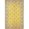 "Jewel 0308 Gold Fleur-De-Lis 5'3"" x 8'3"" Size Area Rug"