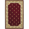 "KAS Rugs Jewel 0311 Red Fleur-De-Lis 8'6"" x 11'6"" Size Area Rug"