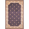 "Jewel 0312 Grape Fleur-De-Lis 3'6"" x 5'6"" Size Area Rug"