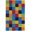 "Kidding Around 0416 Boys Color Blocks 3'3"" x 5'3"" Size Area Rug"