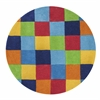 KAS Rugs Kidding Around 0416 Boys Color Blocks 3' Round Size Area Rug