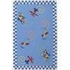 "Kidding Around 0417 Flying Fun 5' x 7'6"" Size Area Rug"