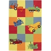 Kidding Around 0424 Trucks Galore 2' x 3' Size Area Rug
